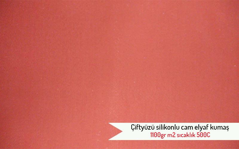 Ciftyuzu silikonlu cam elyaf kumas 1100gr m2 sicaklik 500C urun resmi
